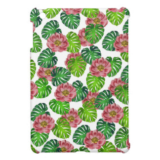 Roses And Monstera Leaf Pattern Case For The iPad Mini