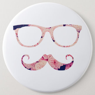 Roses and mustache button