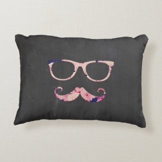 Roses and mustache decorative pillow
