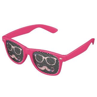 Roses and mustache wayfarer sunglasses