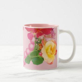 roses and pearls and petals mug