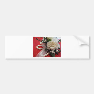 Roses and Pearls Bumper Sticker