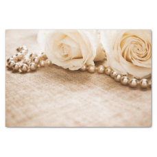 Roses and Pearls Tissue Paper