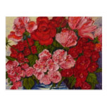 Roses and Peonies Post Card