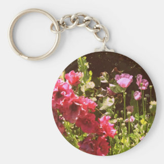 Roses and poppies keychain
