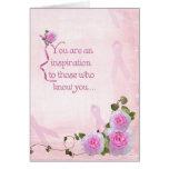 Roses and Ribbons Greeting Card