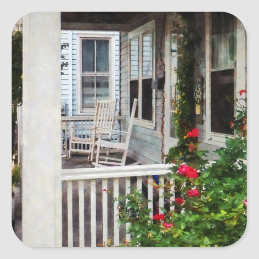Roses and Rocking Chairs Square Sticker
