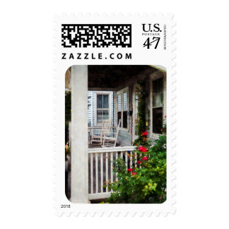 Roses and Rocking Chairs Stamp