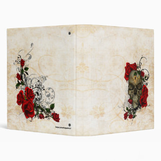 Roses and Skull a romantic tragedy 3 Ring Binder
