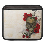 Roses and Skull a romantic tragedy iPad Sleeve