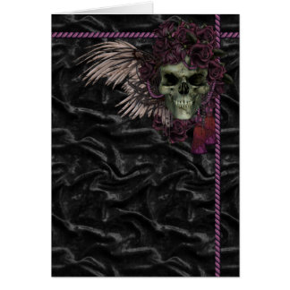 Roses and skull card