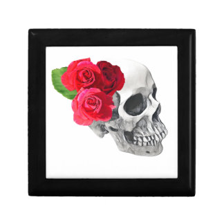 Roses and Skull Jewelry Box