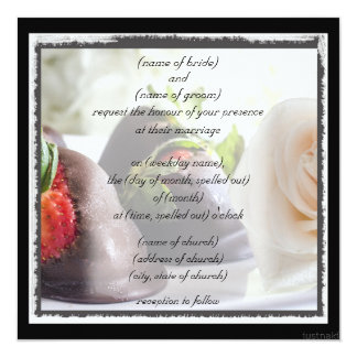 Roses and strawberries invitation