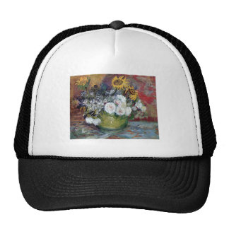 Roses and Sunflowers by Van Gogh Trucker Hat