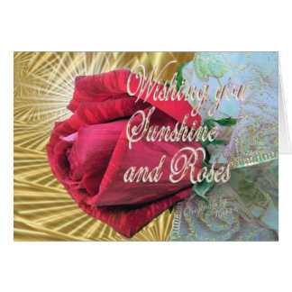 Roses and Sunshine Card