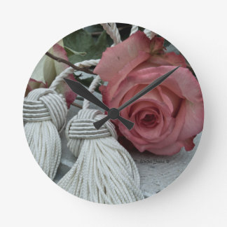 Roses And Tassels Wall Clock