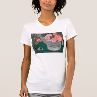 Roses And The Watering Can Shirt by Julia Hanna