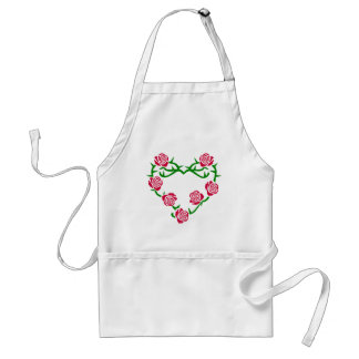 Roses and Thorns Heart Adult Apron