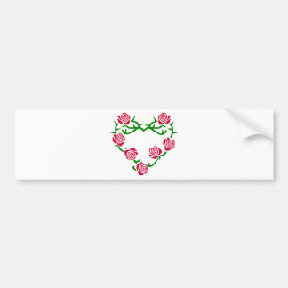 Roses and Thorns Heart Bumper Stickers