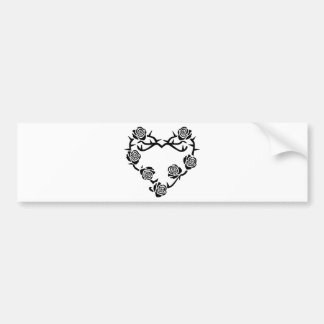 Roses and Thorns Heart Car Bumper Sticker