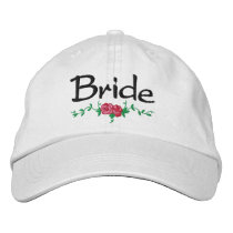 Roses and Vines Embroidered Bridal Wedding Cap