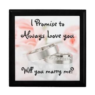 Roses and Wedding Band/Proposal Keep Sake Gift Box