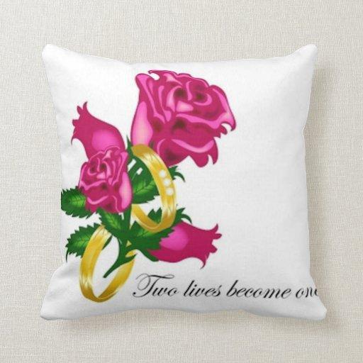 Roses and Wedding Bands American MoJo Pillow