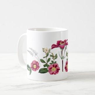 Roses and Windflowers Botanical Garden Coffee Mug
