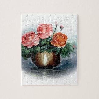 Roses Antique Vignette Puzzle