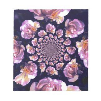 Roses approaching memo note pad