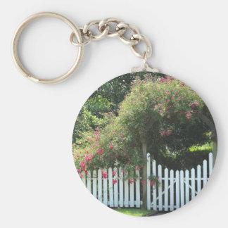 Roses & Arched fence Keychain