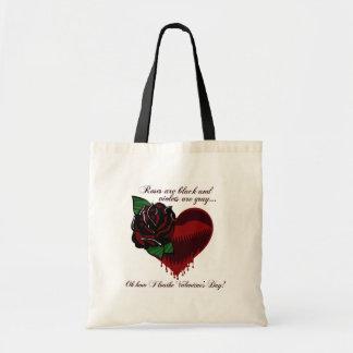 Roses Are Black Poem Budget Tote Bag
