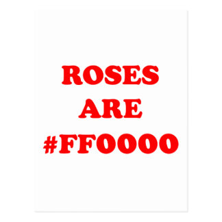 Roses Are #FF0000 Postcard