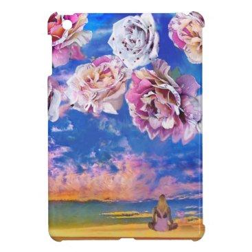 Beach Themed Roses are flying through the sky. iPad mini cover