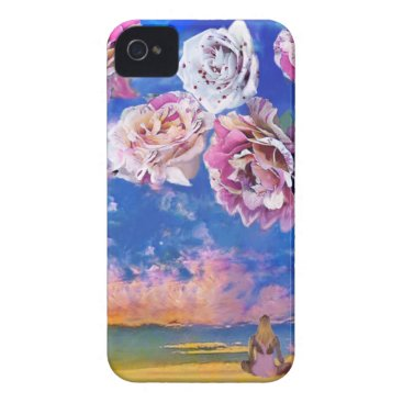 Beach Themed Roses are flying through the sky. iPhone 4 Case-Mate case