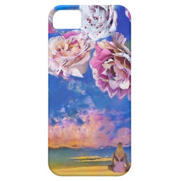 Beach Themed Roses are flying through the sky. iPhone SE/5/5s case
