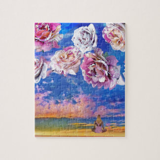 Roses are flying through the sky. jigsaw puzzle