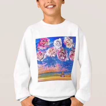 Beach Themed Roses are flying through the sky. sweatshirt