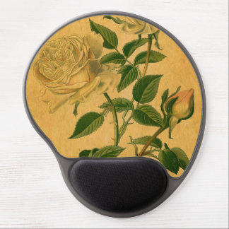Roses are Golden Gel Mouse Pad