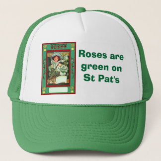 Roses are green on St Pat's Trucker Hat