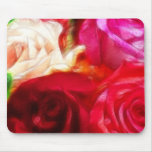 Roses Are Pink Peach Red Artistic & Unique Mousepad