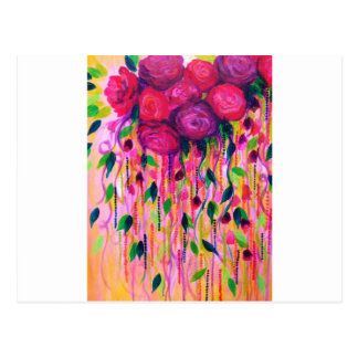 ROSES ARE RAD 2- Bold Pink Red Roses Floral Bouque Postcard