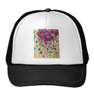 ROSES ARE RAD - Bold Fun Red Roses Floral Bouquet Mesh Hat