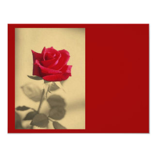 """Roses Are Red 4.25"""" X 5.5"""" Invitation Card"""