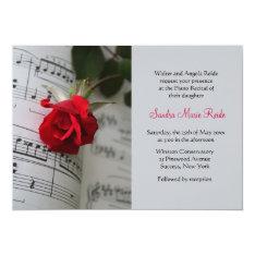 Roses Are Red Piano Recital Invitation at Zazzle