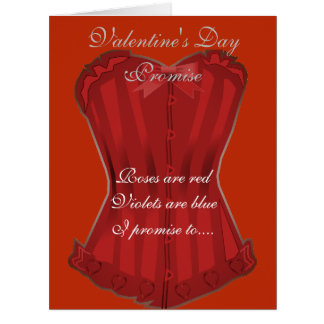 Roses Are Red Valentine Promise Card
