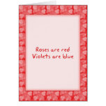 Roses Are Red Valentine's Card by David M. Bandler