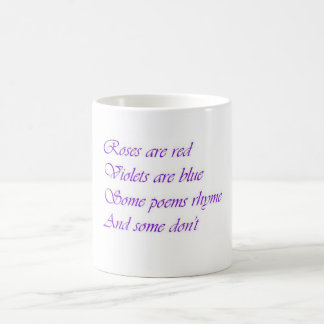 Roses are Red, Violets are Blue Coffee Mugs