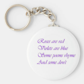Roses are Red, Violets are Blue Key Chain