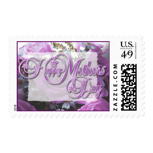 Roses & Asters Mothers Day Stamp